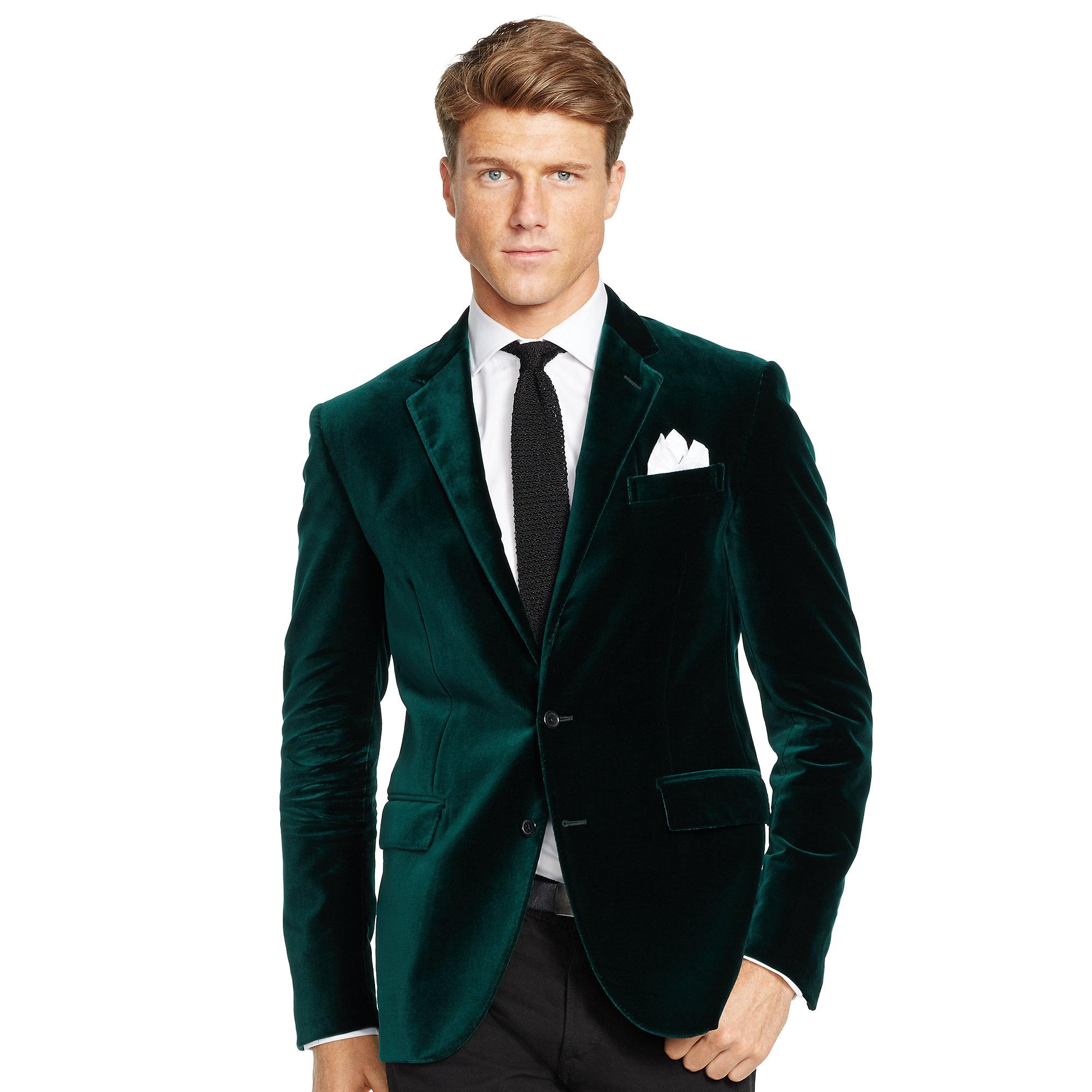 Lyst - Polo ralph lauren Polo I Velvet Sport Coat in Green for Men