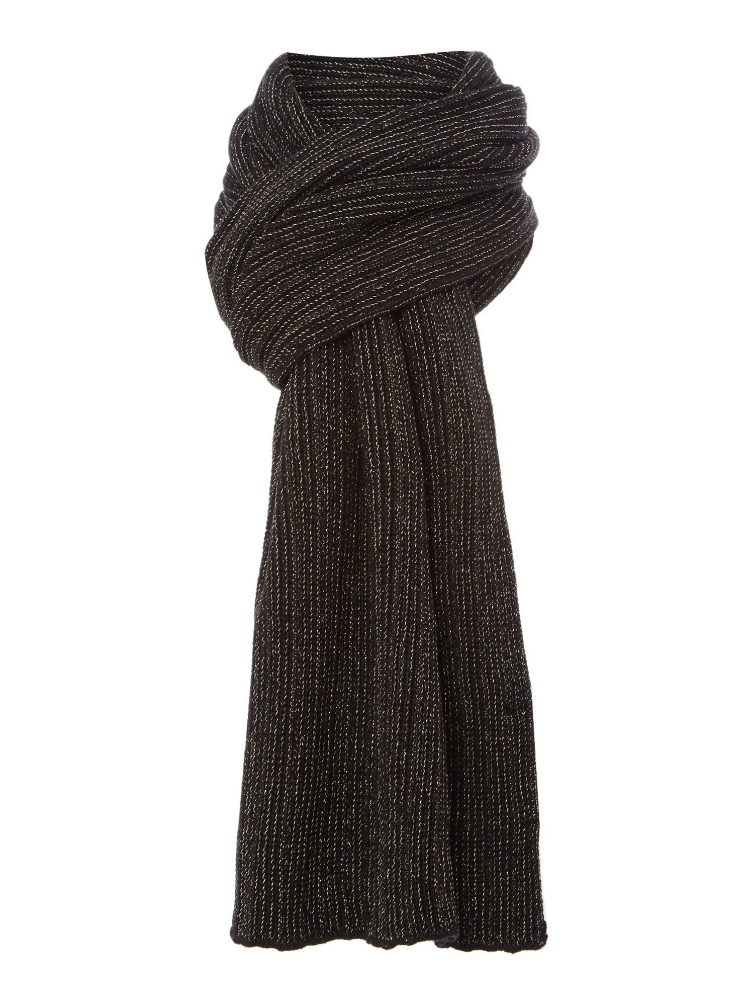 biba black lurex scarf in black save 61 lyst