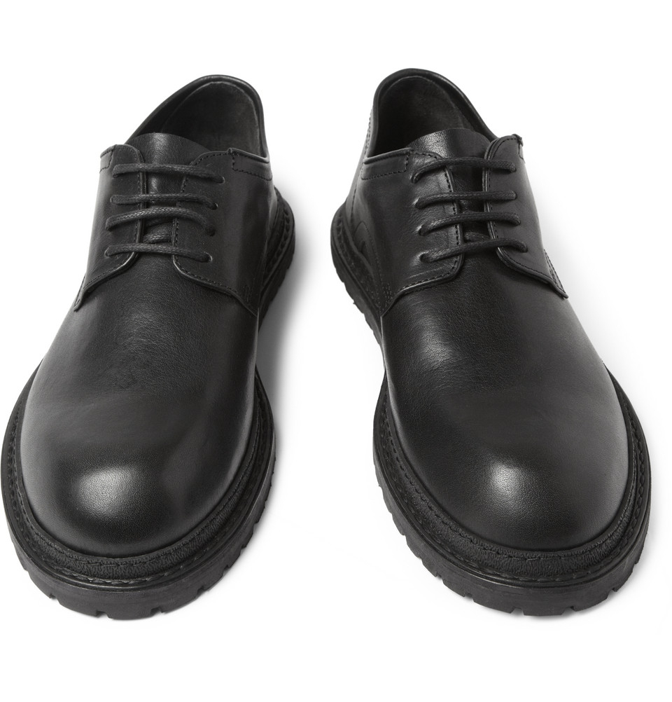 Ann Demeulemeester Black Leather Derbys