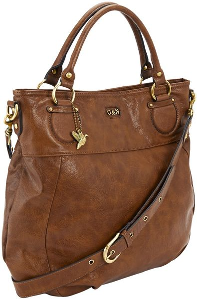 Moschino Slouchy Pleated Shoulder Bag Brown 85