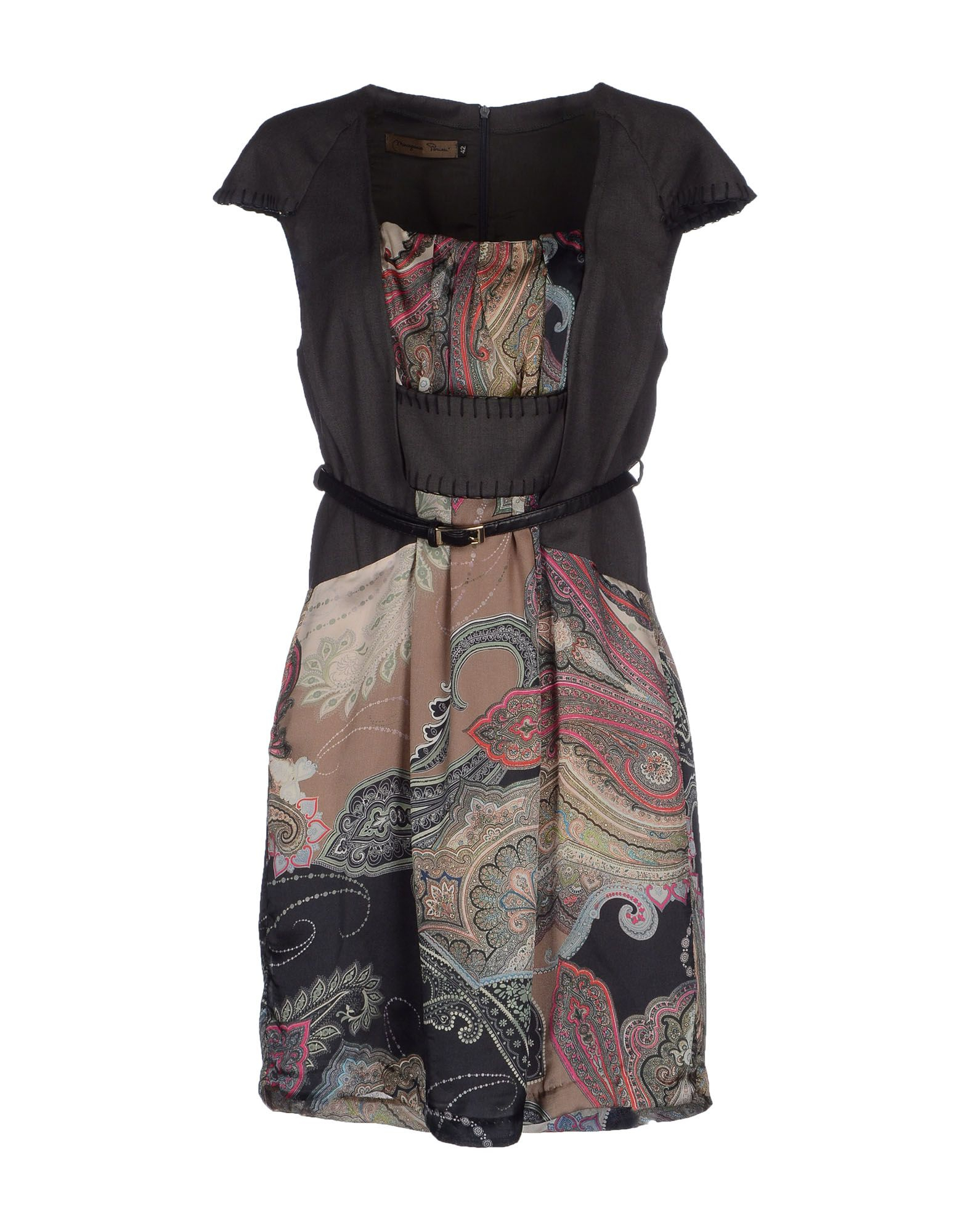 Mariagrazia Panizzi Short Dress In Gray Lyst