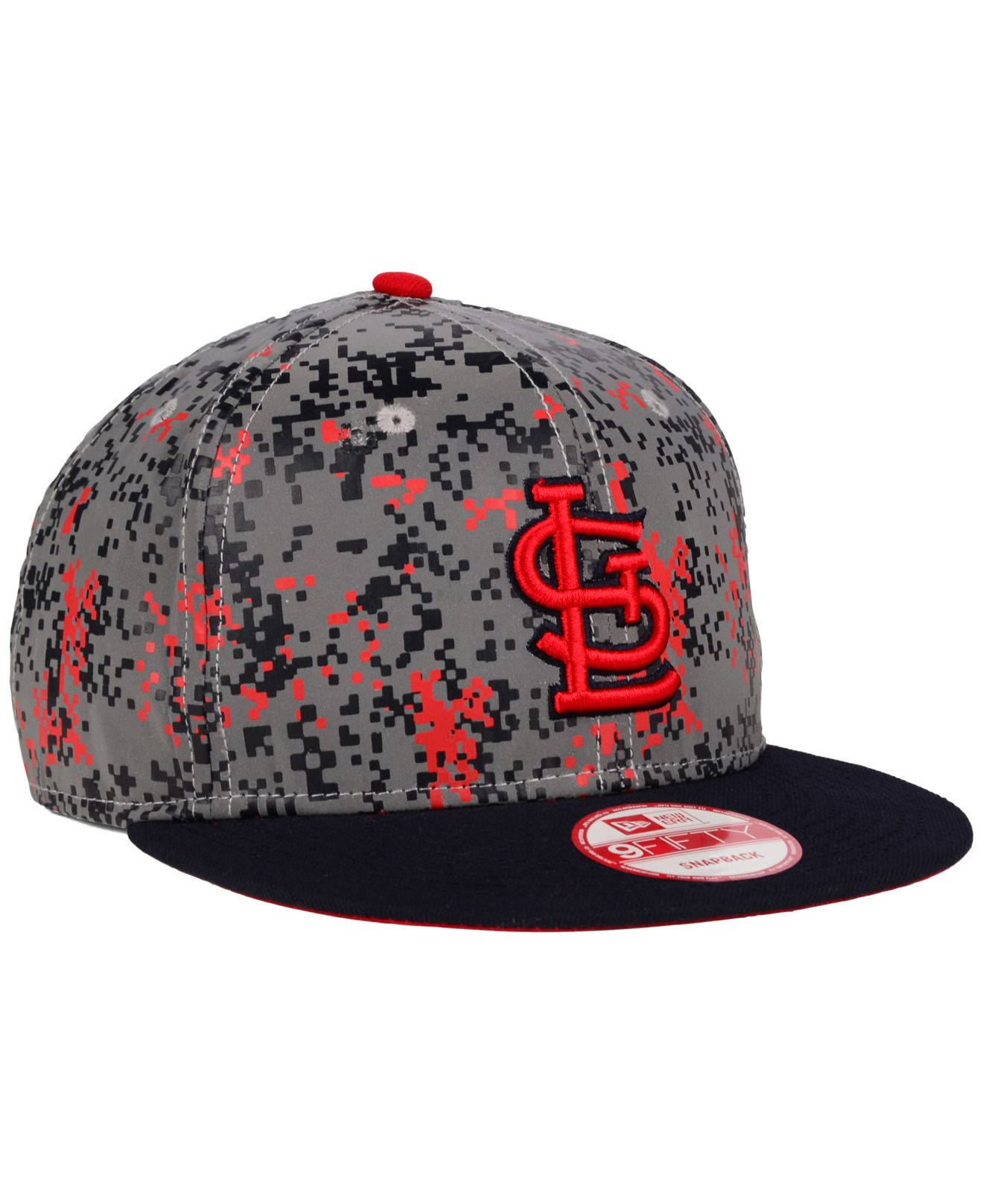 huge selection of 26f76 3d3c4 ... coupon lyst ktz st. louis cardinals dc reflective 9fifty snapback cap  in gray for men