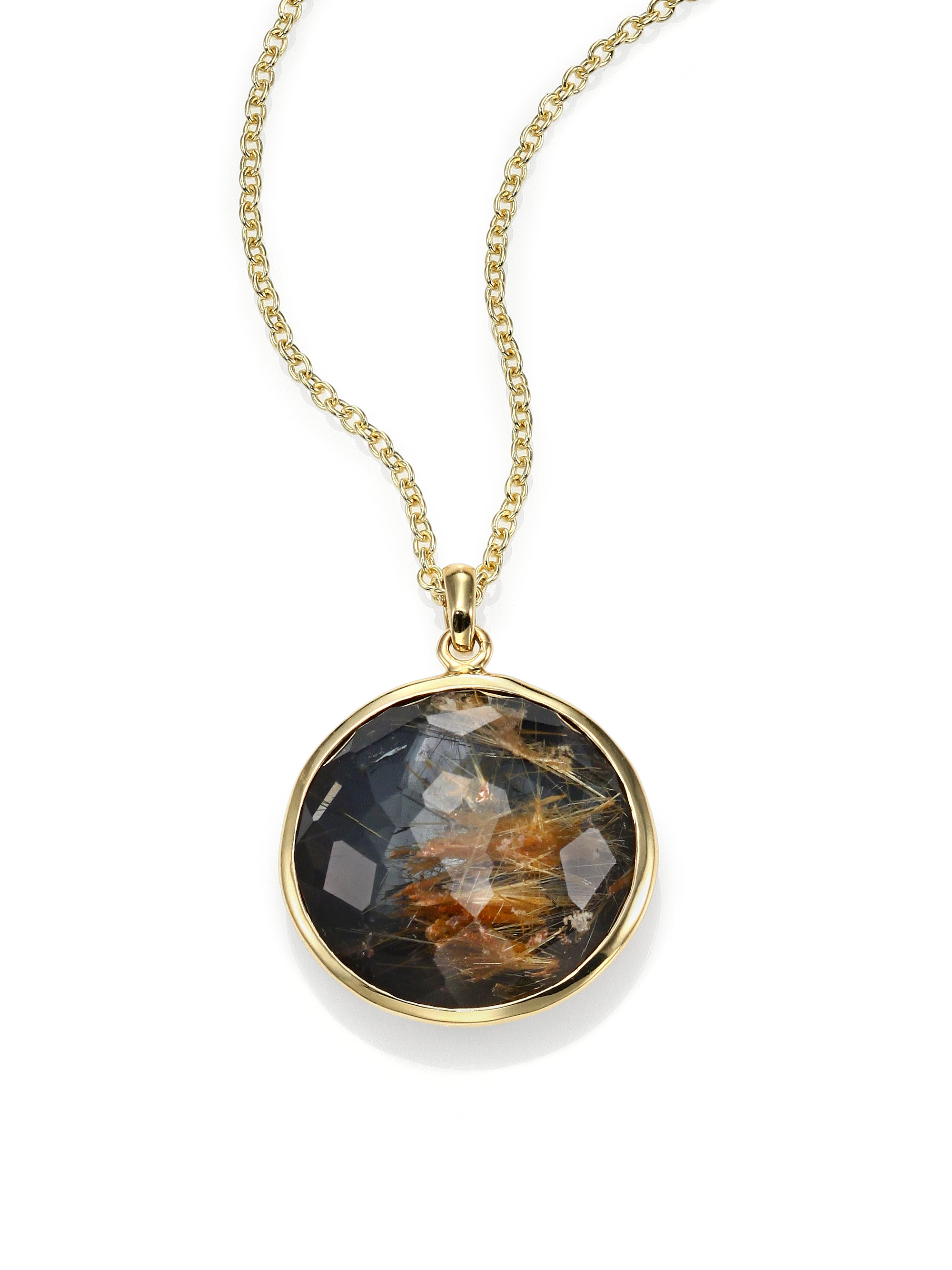 Ippolita polished rock candy rutilated quartz hematite 18k for What is gold polished jewelry