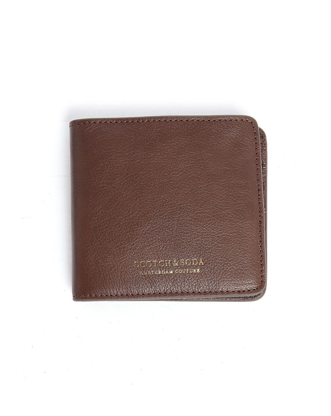 scotch soda brown leather zipped coin wallet in brown. Black Bedroom Furniture Sets. Home Design Ideas