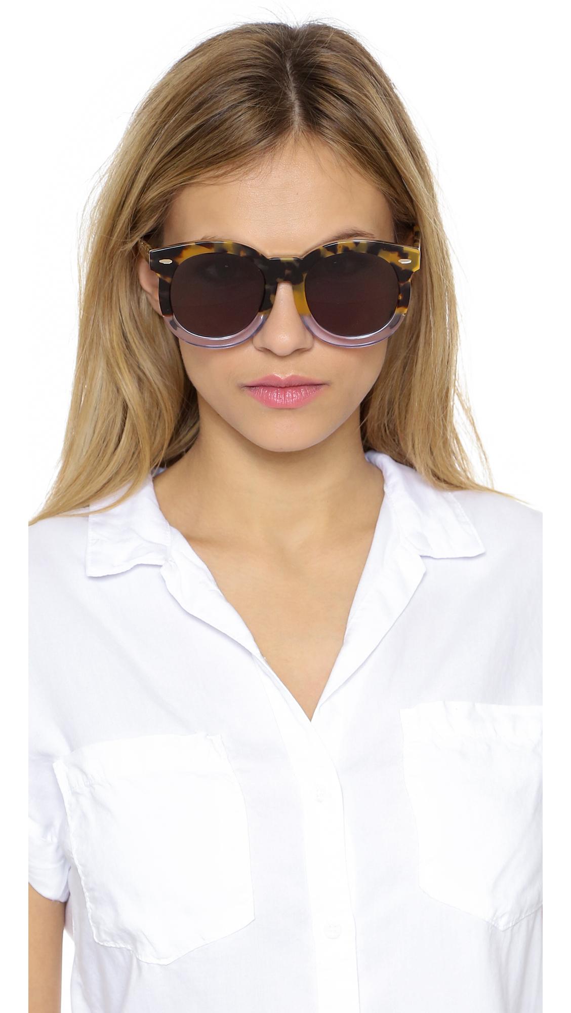 c8537422073 Lyst - Karen Walker Super Duper Thistle Sunglasses in Metallic