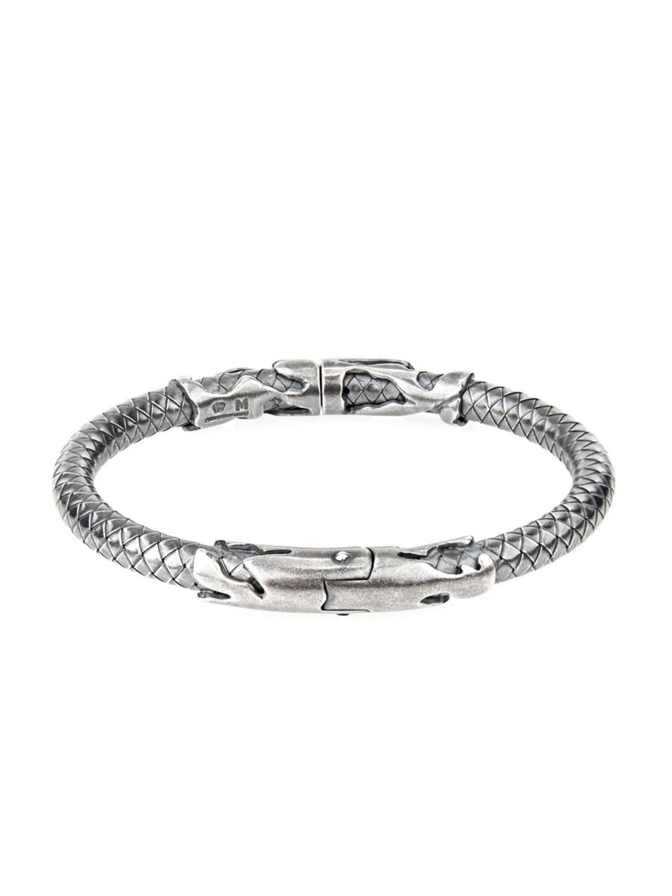 Bottega Veneta Intrecciato sterling-silver necklace 63KBn