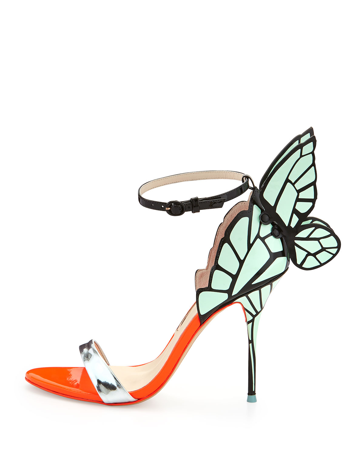 bcf62f40fbc3 Lyst - Sophia Webster Chiara Butterfly Wing Leather Sandal