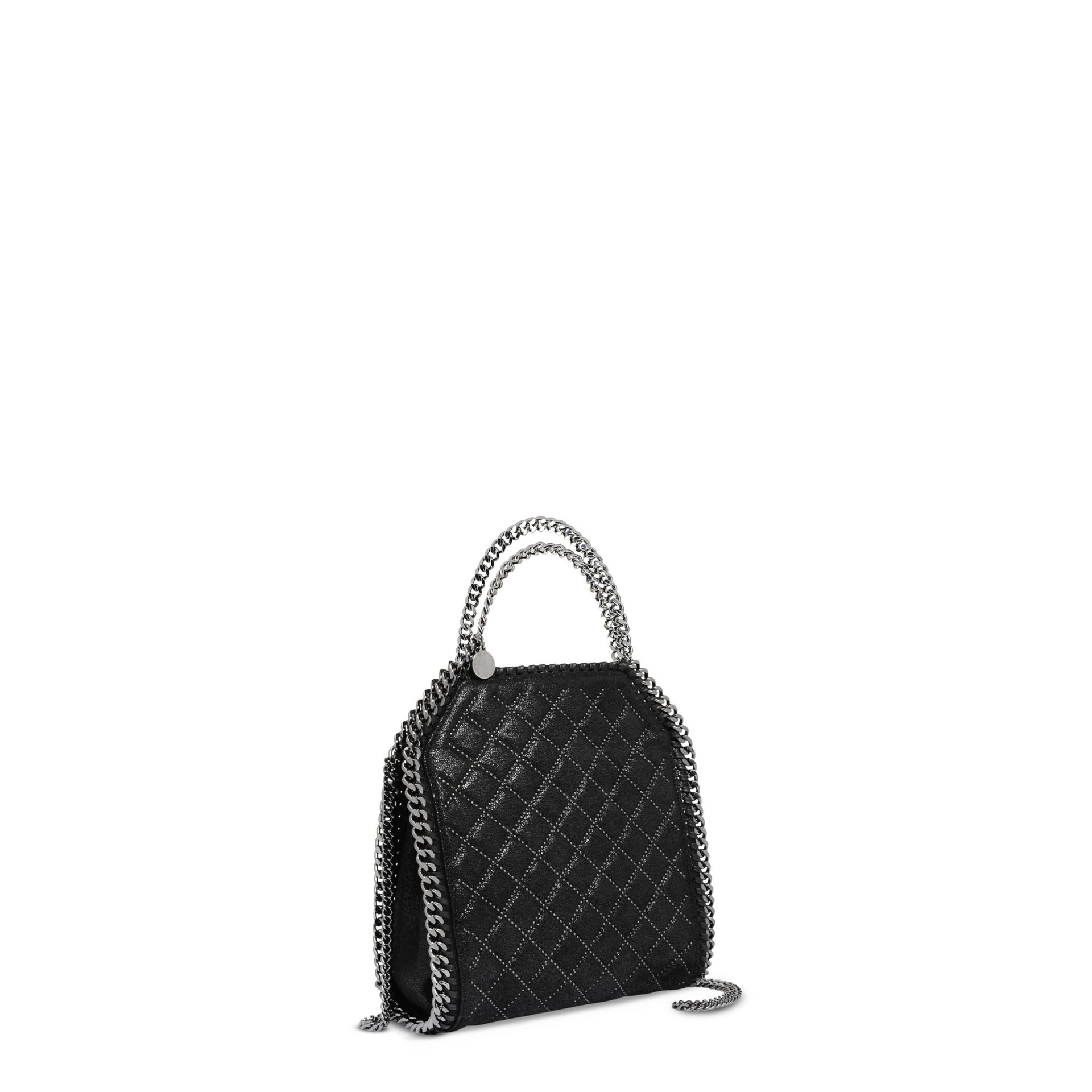 8eab1e17480 Black Quilted Studded Weekend Bag.Lyst Stella Mccartney Black ...