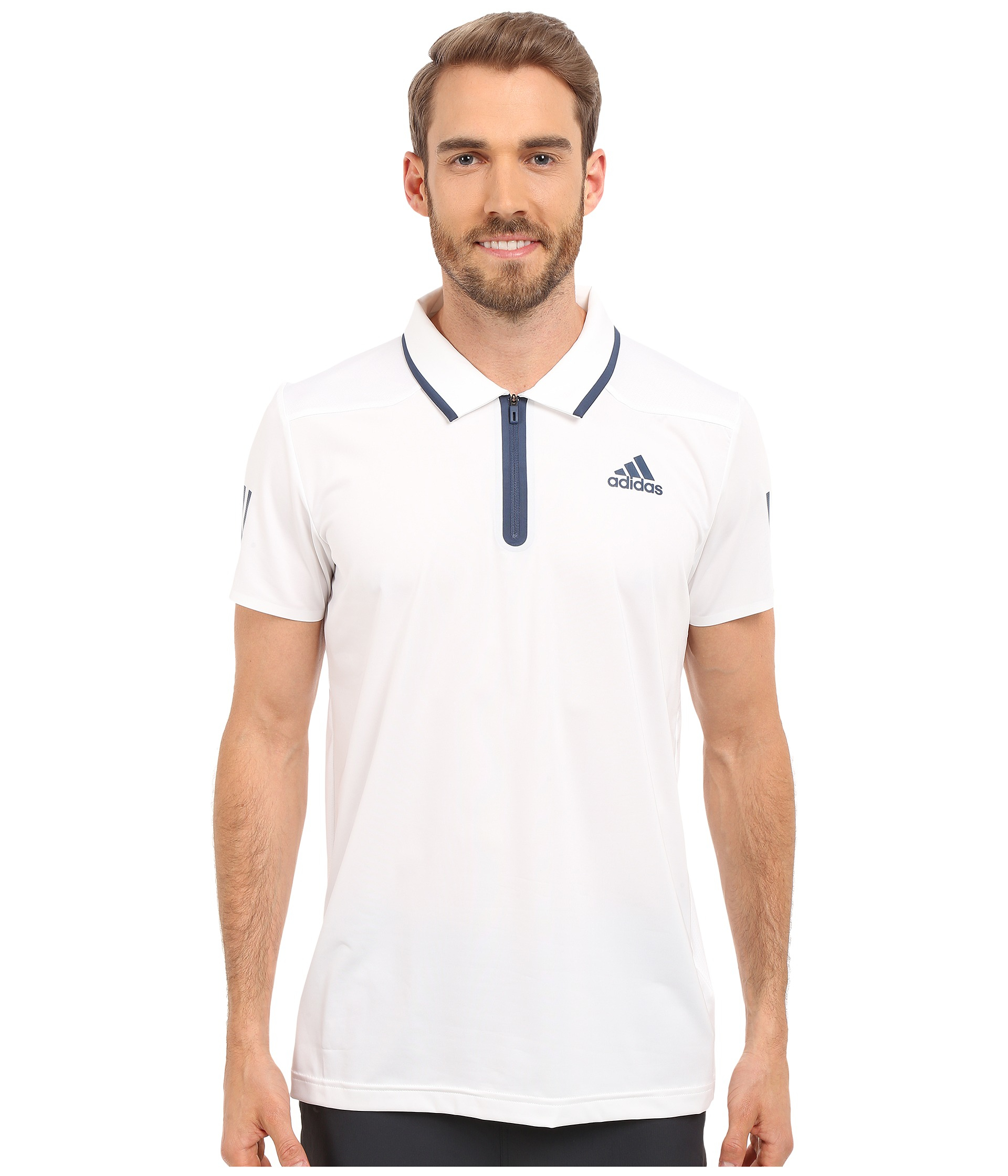 Adidas Originals Barricade Polo Shirt In White For Men Lyst