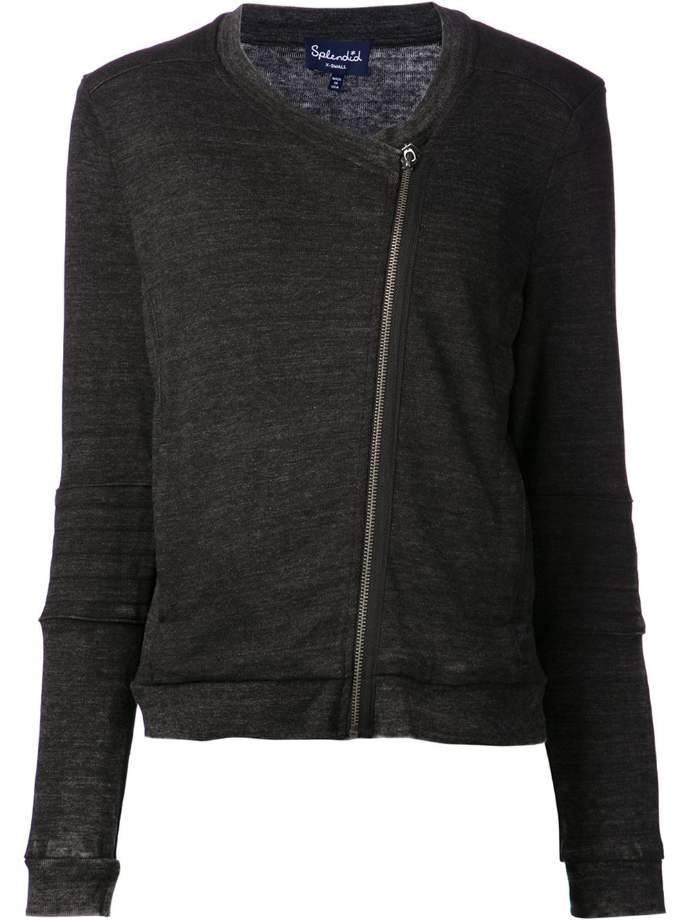 Lyst Splendid Quilted Jacket In Gray
