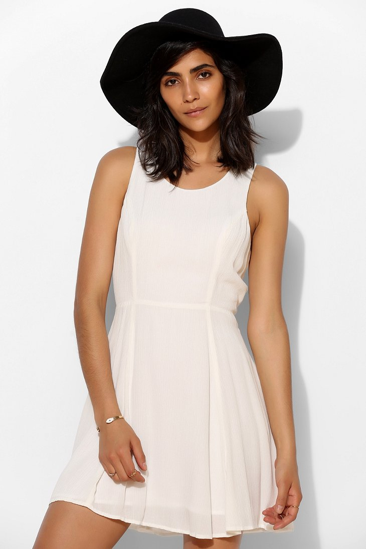 b3e4a5c59a1 Lyst - Pins And Needles Fiona Laceup Back Skater Dress in White