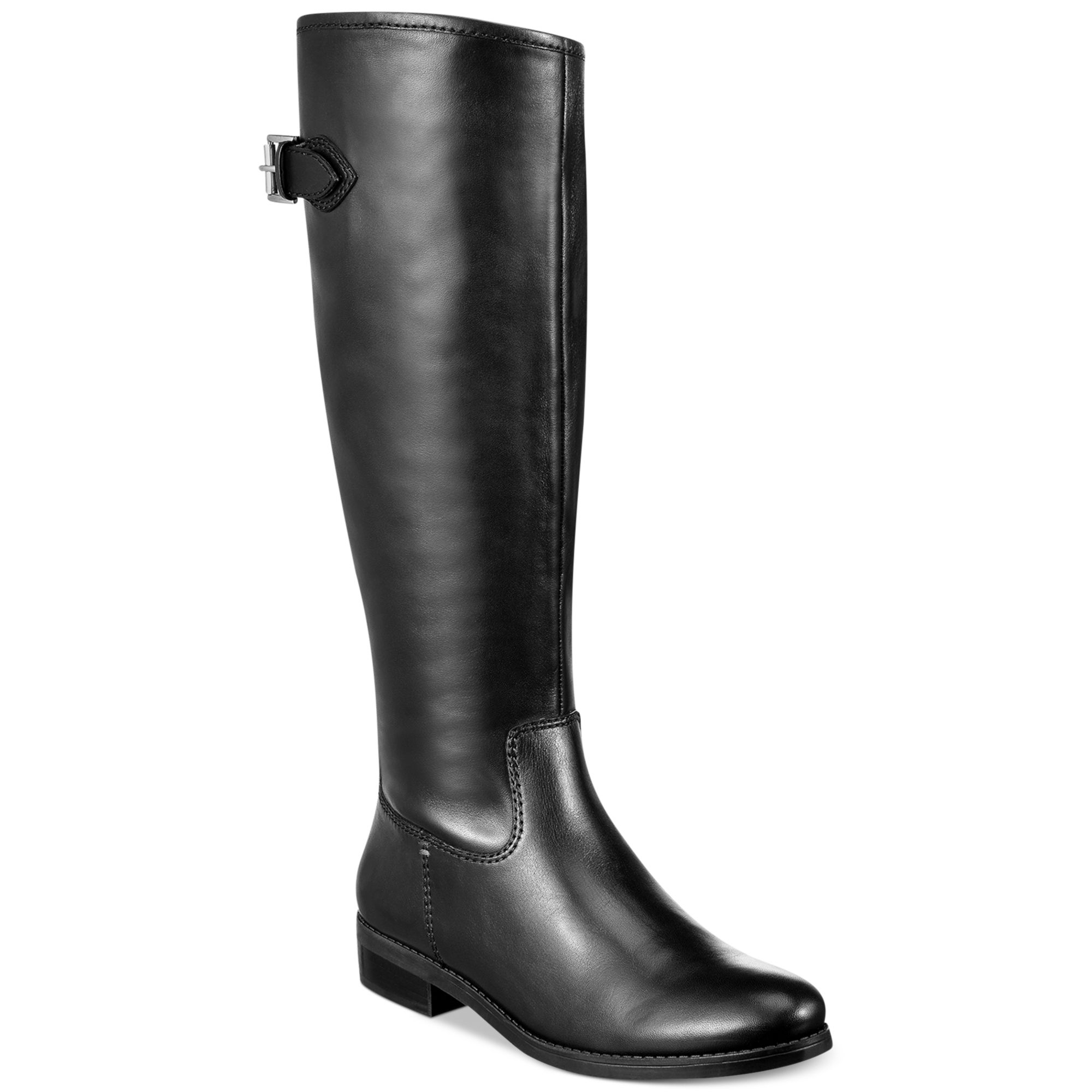 Tommy hilfiger Dexter2 Wide Calf Tall Riding Boots in Black | Lyst
