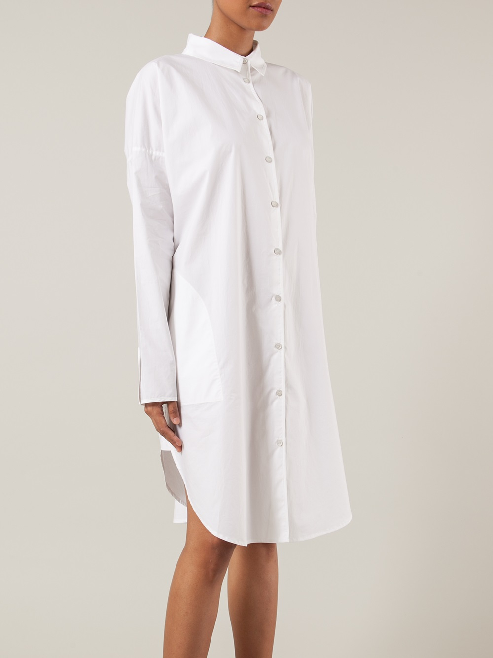 lyst acne studios shirt dress in white