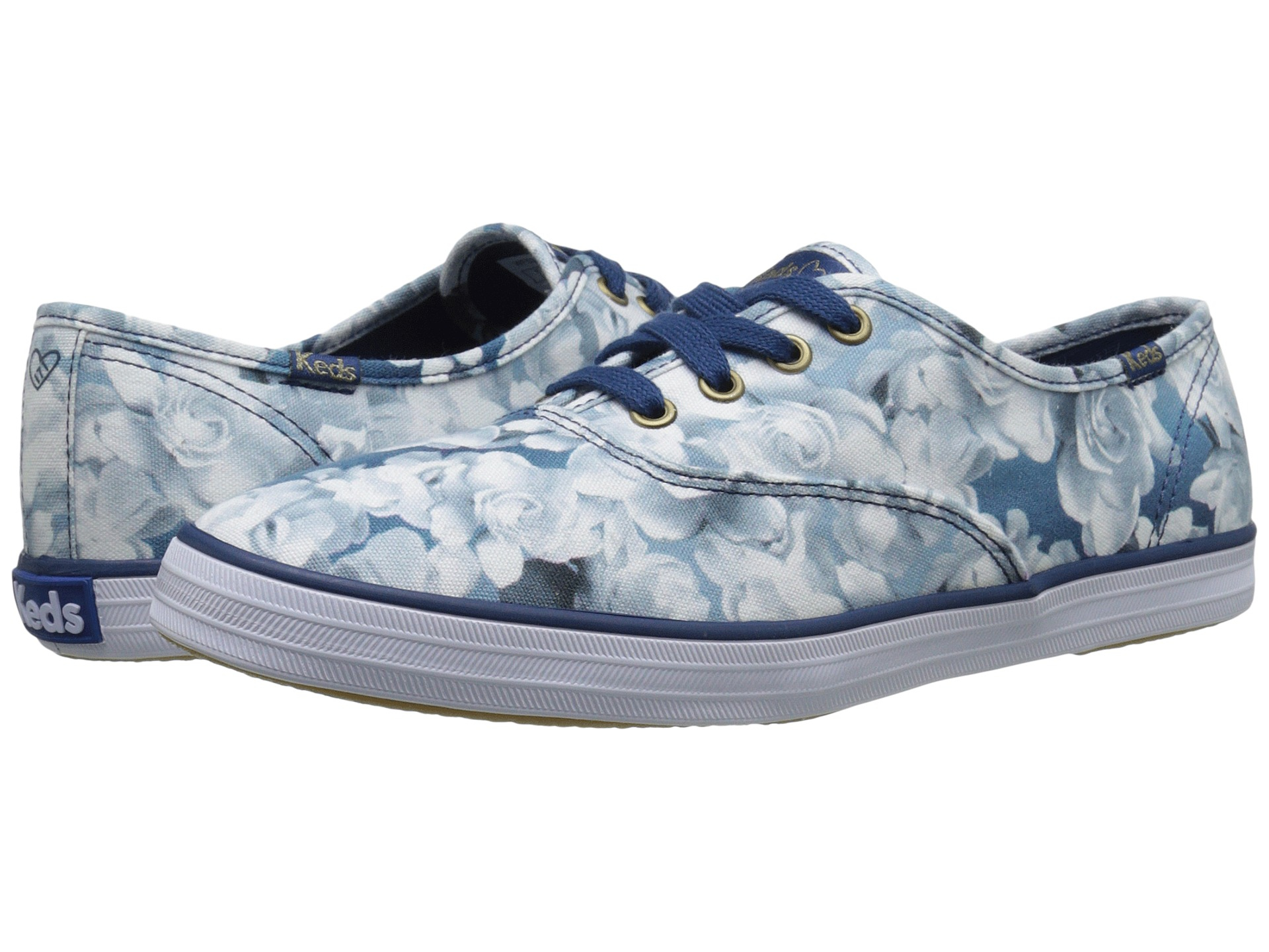 5f2d505171f Lyst - Keds Taylor Swift s Champion Floral Print in Blue