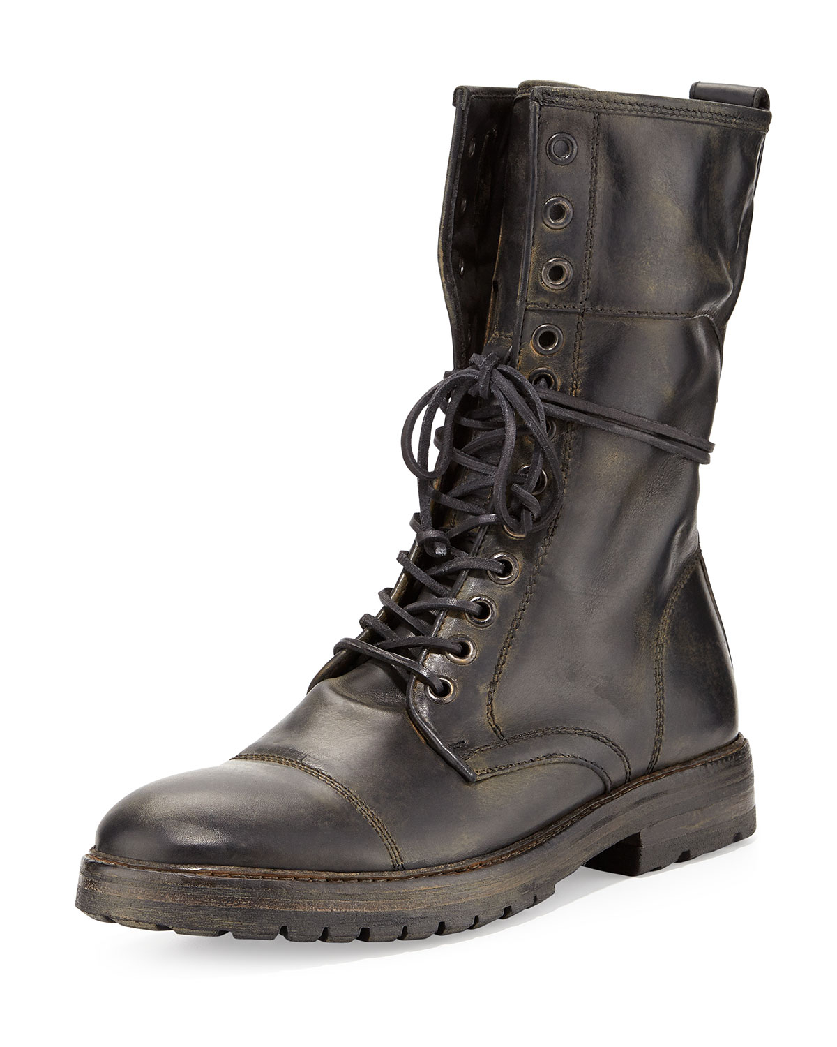 John varvatos Stanley Tall Lace-Up Boot in Black for Men | Lyst