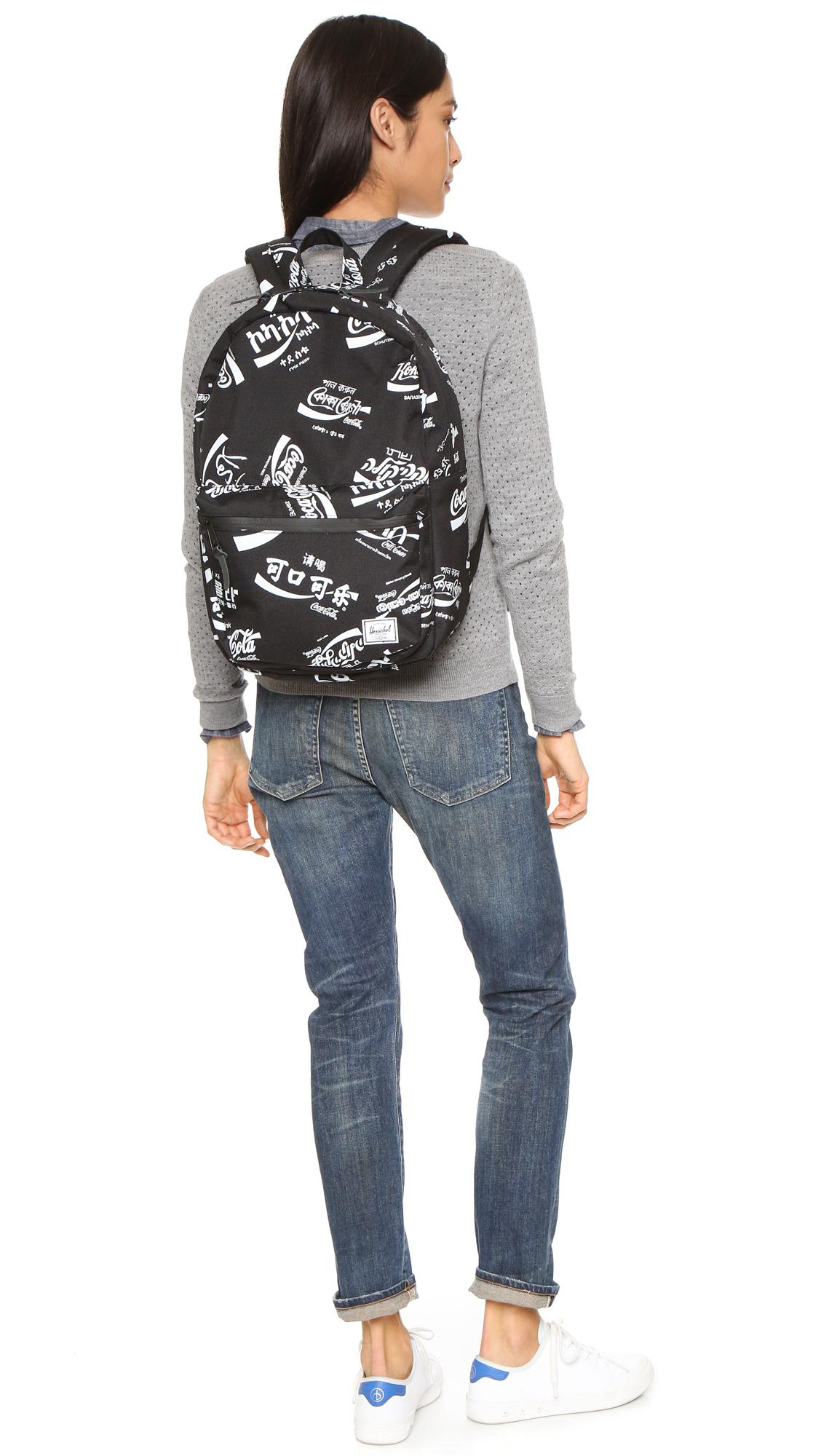 dec07d18fbd Lyst - Herschel Supply Co. Coca Cola X Herschel Lawson Backpack in Black