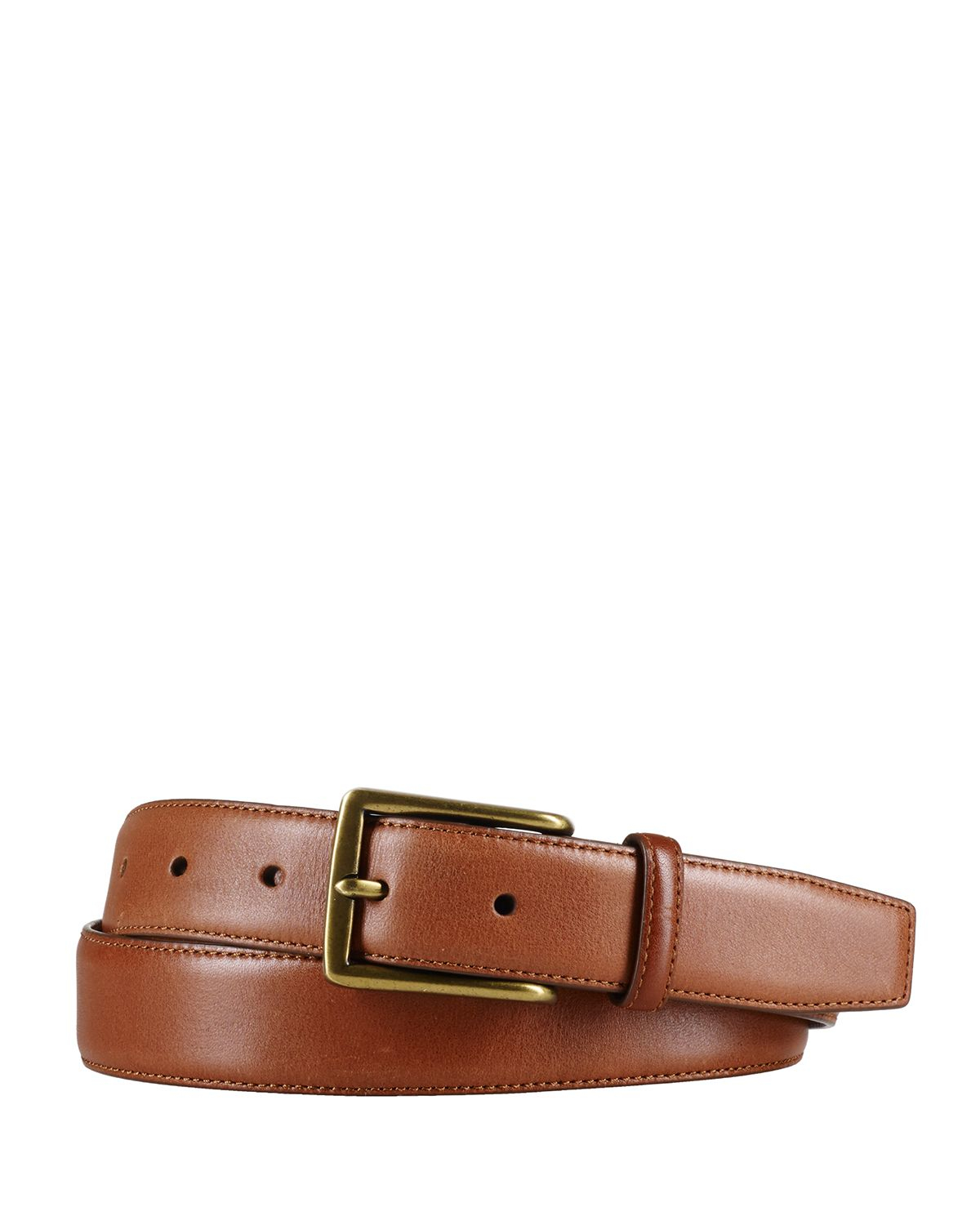 ralph polo leather dress belt in brown for