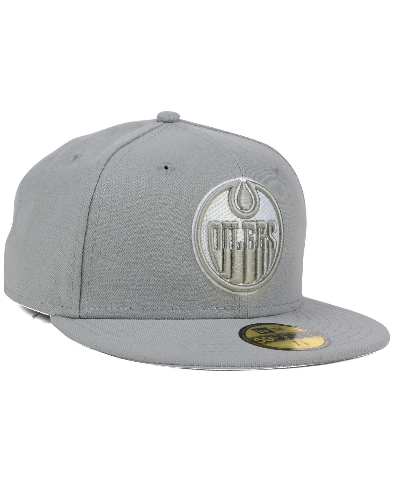 the best attitude e1a6a 30462 KTZ Edmonton Oilers C-Dub 59Fifty Cap in Gray for Men - Lyst