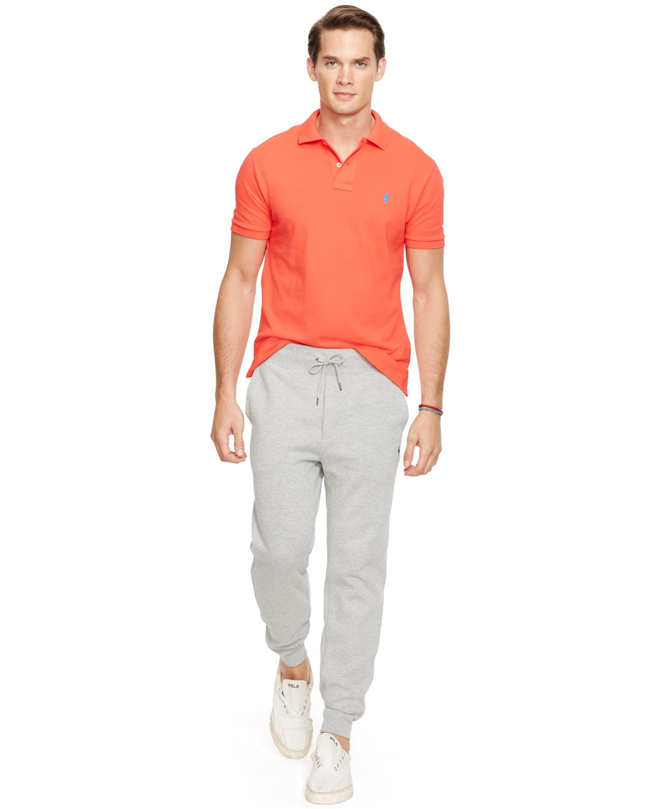 Polo ralph lauren Performance French-rib Drawstring Pants in Natural for Men | Lyst .