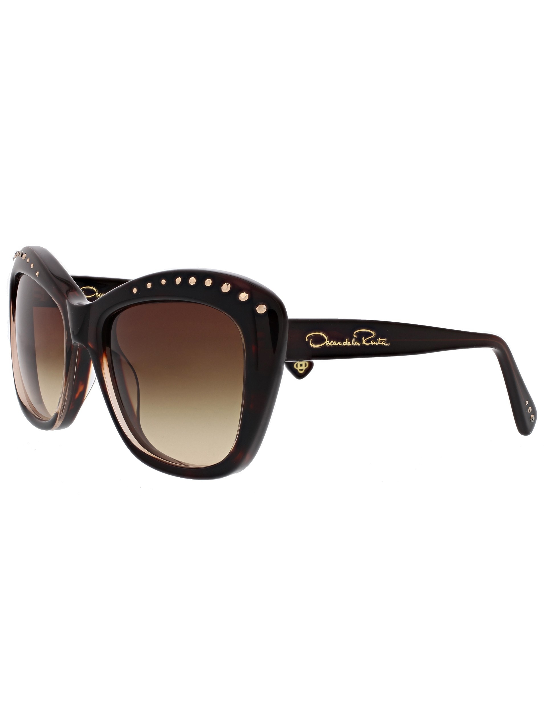 8509162ebe17f Oscar de la Renta Acetate Cat-eye Sunglasses With Swarovski Crystals ...
