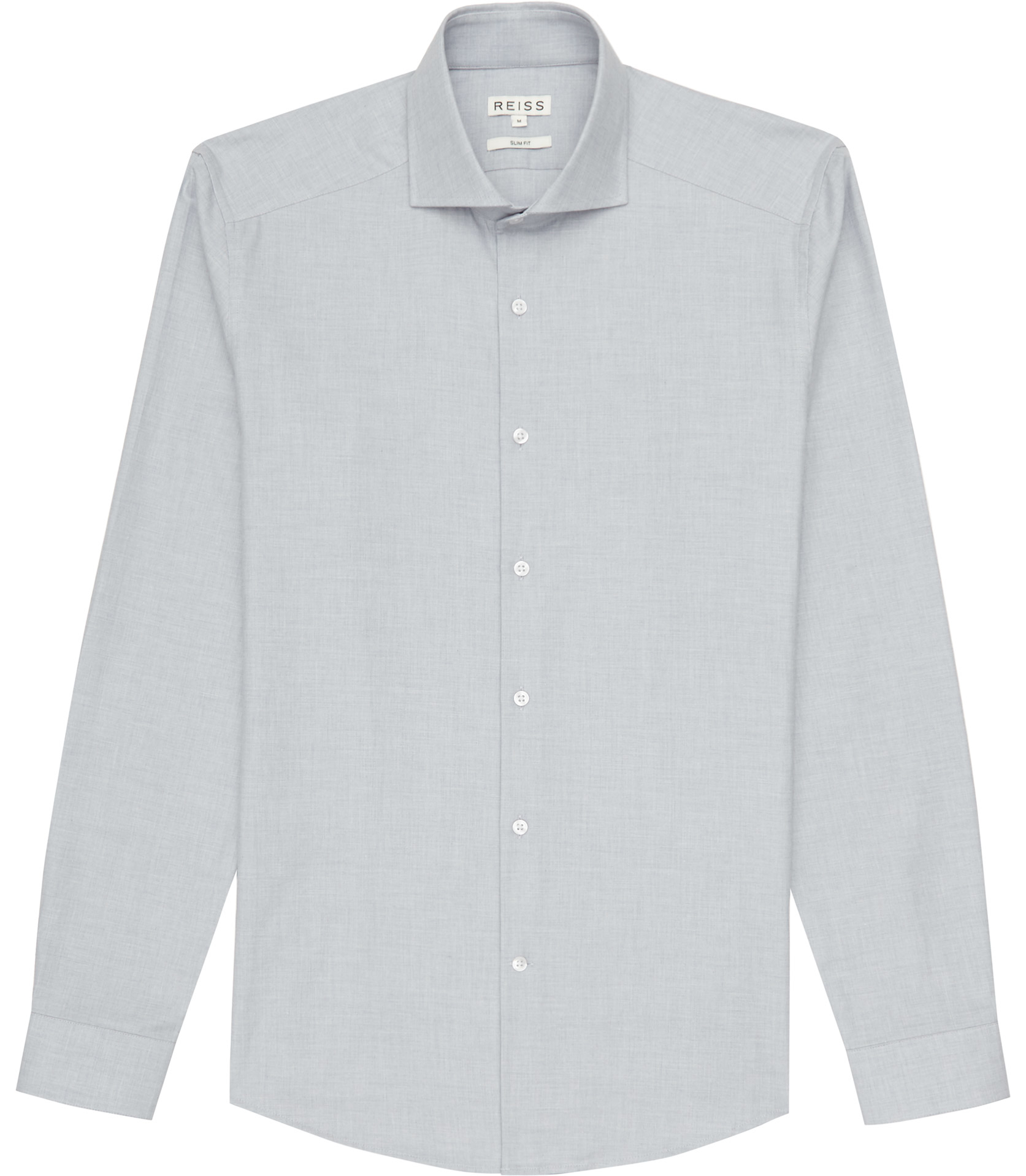 Lyst Reiss Totti Cutaway Collar Shirt In Blue For Men