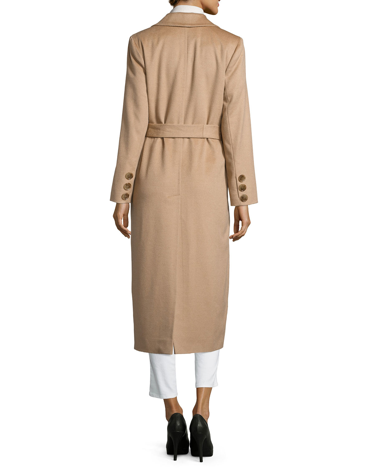 Sofia cashmere Long Wrap Camel-hair Coat in Natural   Lyst
