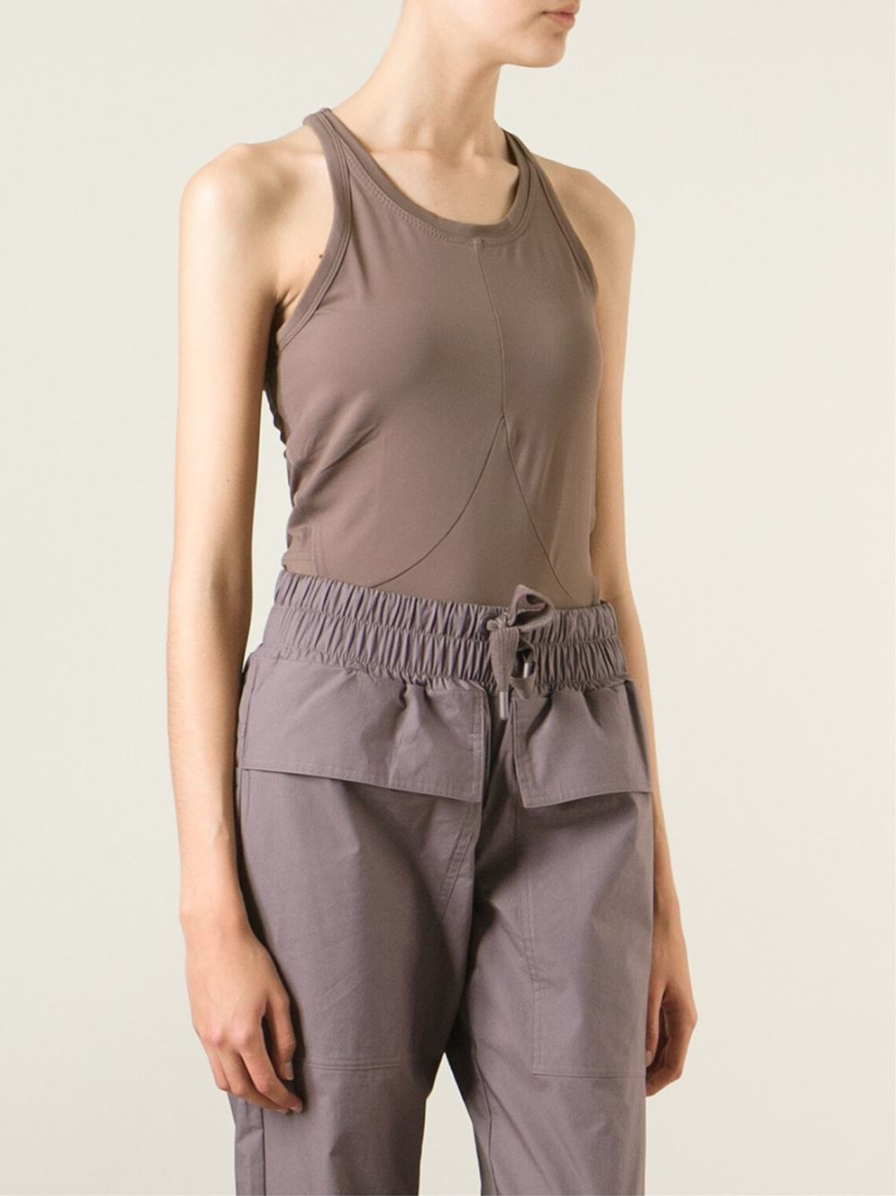 Nude sable tank top