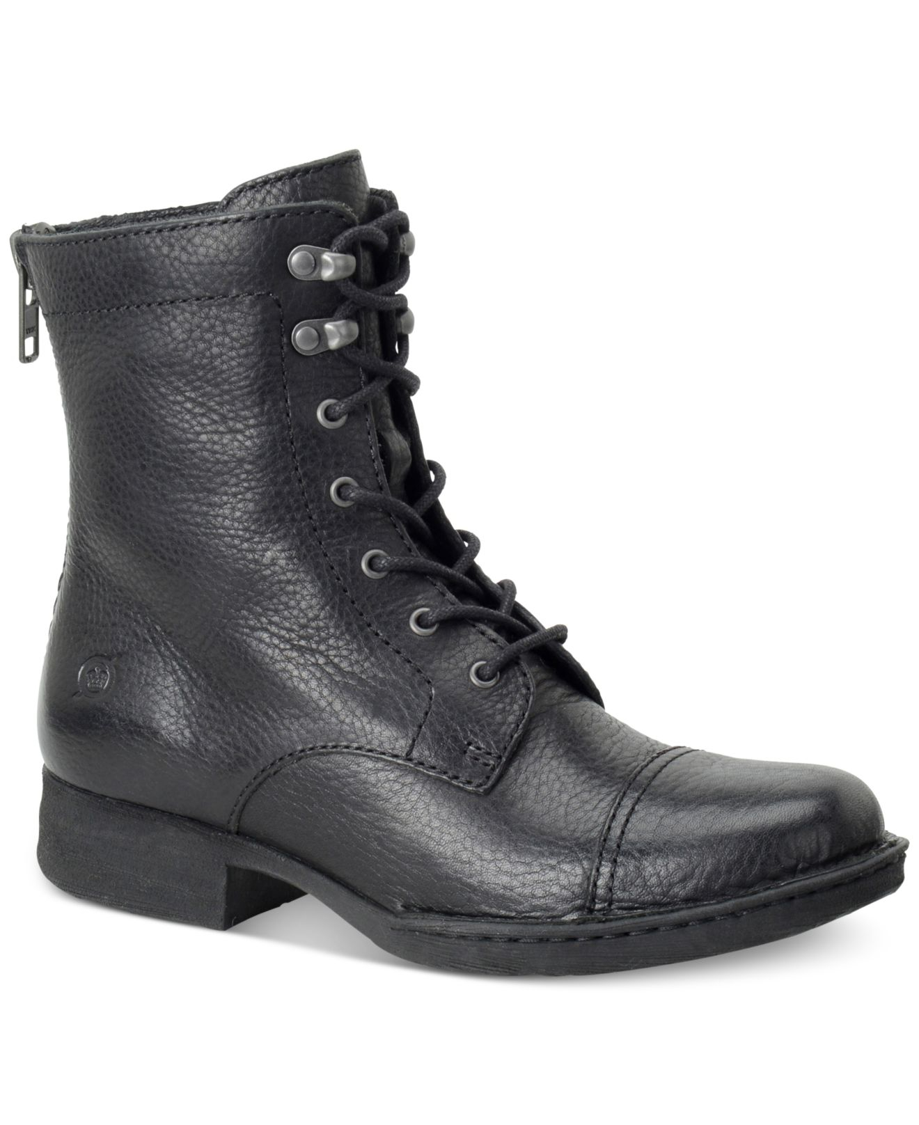 Lyst Born Kelisa Lace Up Boots In Black