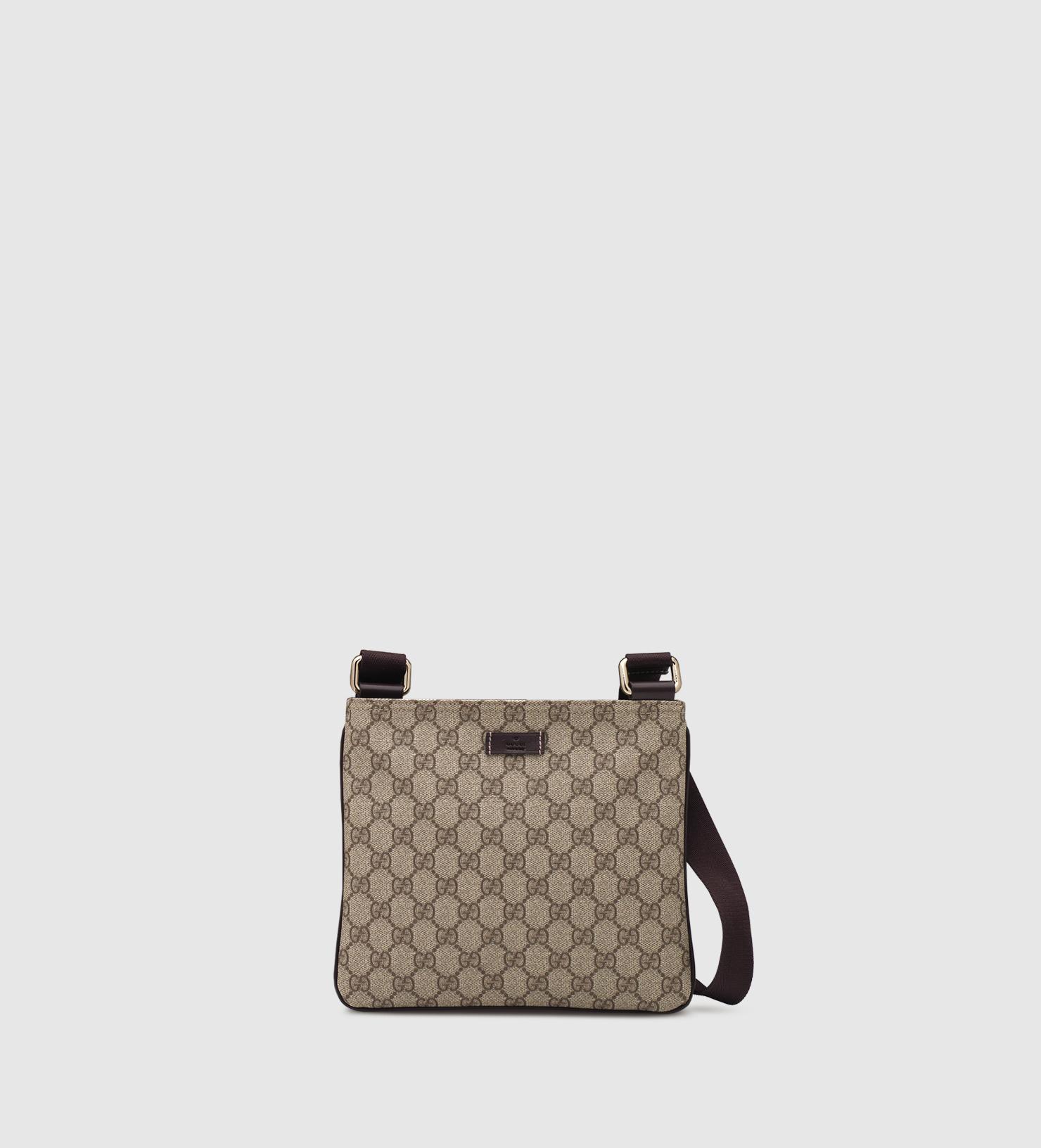 c41e72dcc62e Gucci Gg Supreme Cross Body Messenger Bag in Natural - Lyst