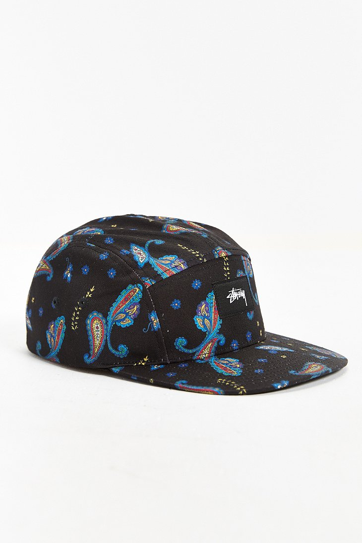 717158f2 Stussy Paisley Camper 5-Panel Hat in Black for Men - Lyst