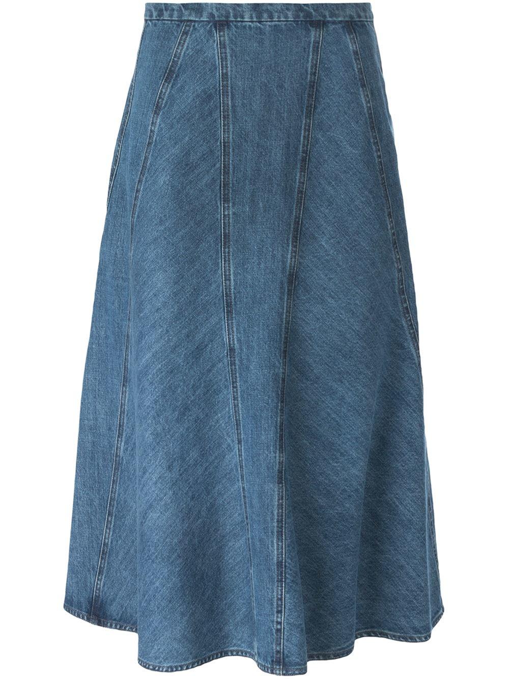 Denim Flared Skirt 98
