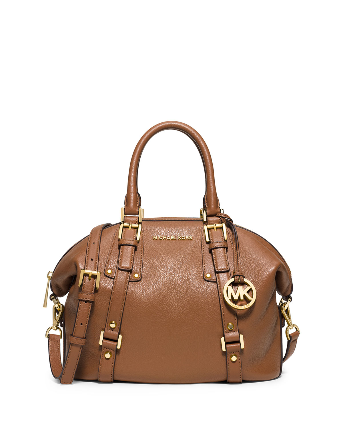 e300e1389a6e ... italy lyst michael michael kors bedford belted medium satchel bag in  brown 37545 31cc8