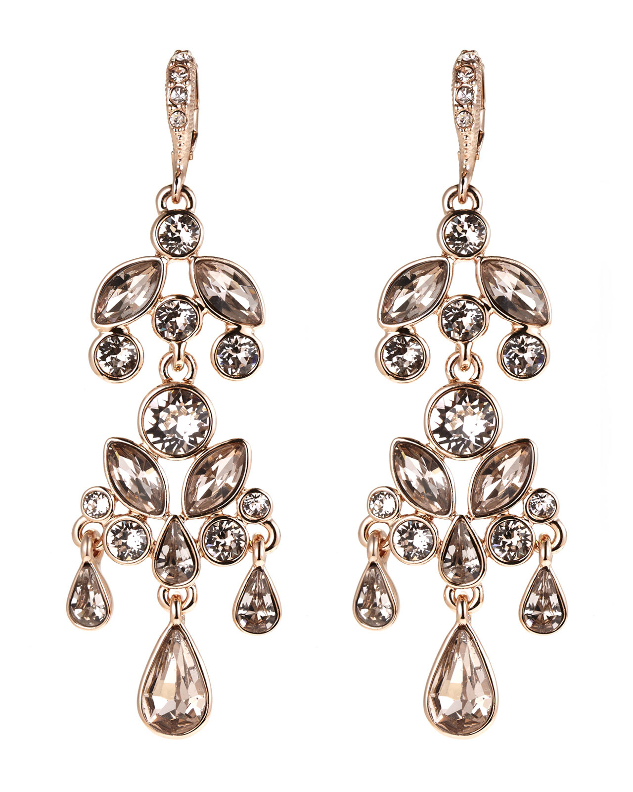 Red Givenchy Chandelier Earrings: Givenchy Rose Gold-Tone & Champagne Chandelier