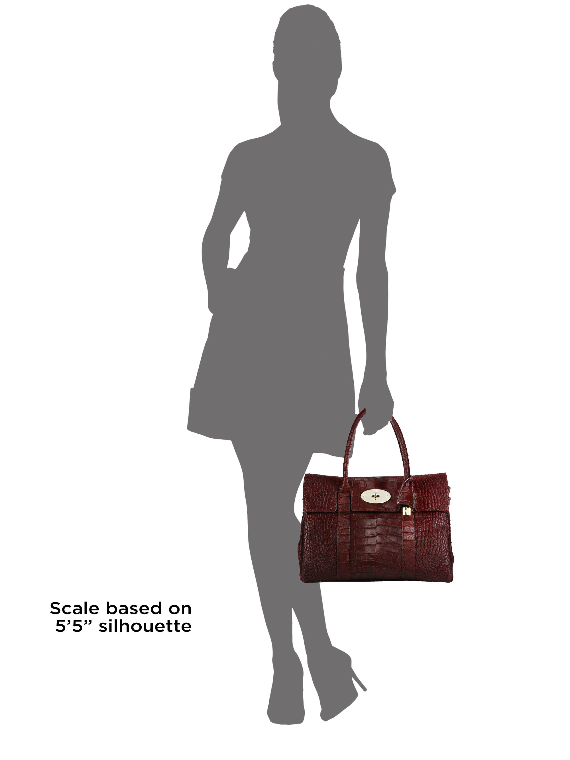 where can i buy mulberry mini zipped bayswater bag 3080d 29343  coupon lyst mulberry  bayswater crocodile embossed calf hair satchel in red 48e9b 2462a 99d521e6da18f