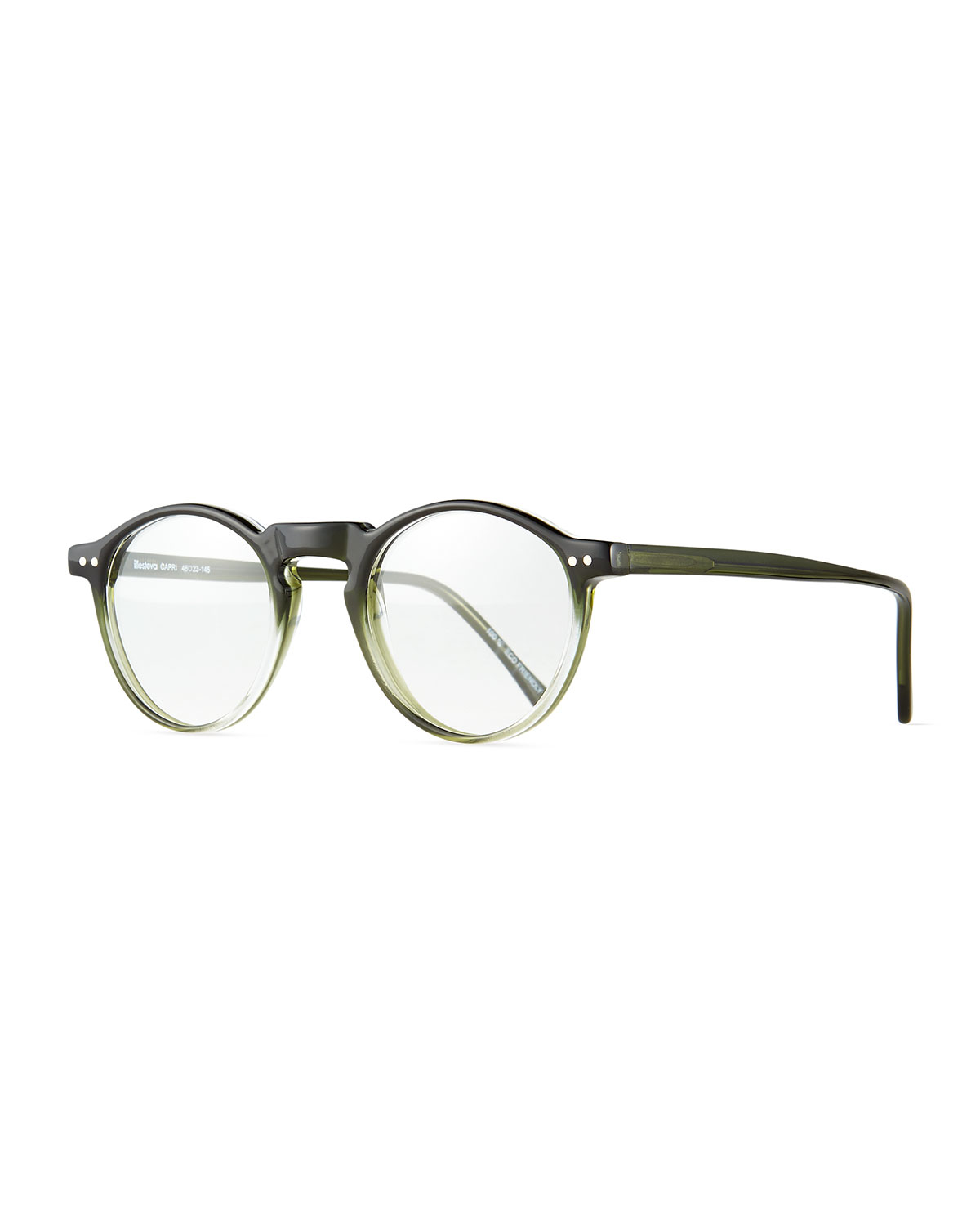 Lyst - Illesteva Capri Round Optical Frames W/ Clip-on Sunglasses in ...