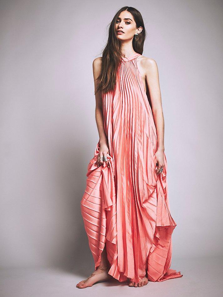 Free people Porter Dress in Pink  Lyst