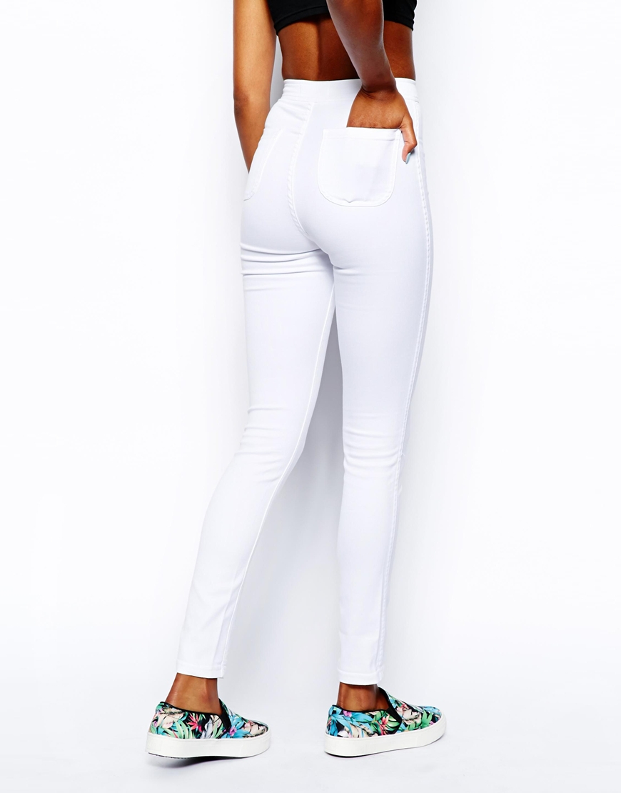 American apparel White Easy Jean in White | Lyst