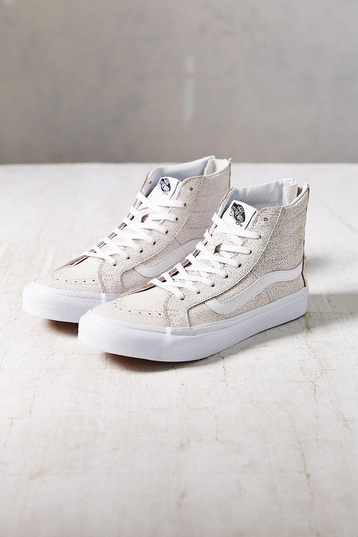 3ee81fef26 Lyst - Vans Sk8-Hi Crackle Suede Sneaker in White