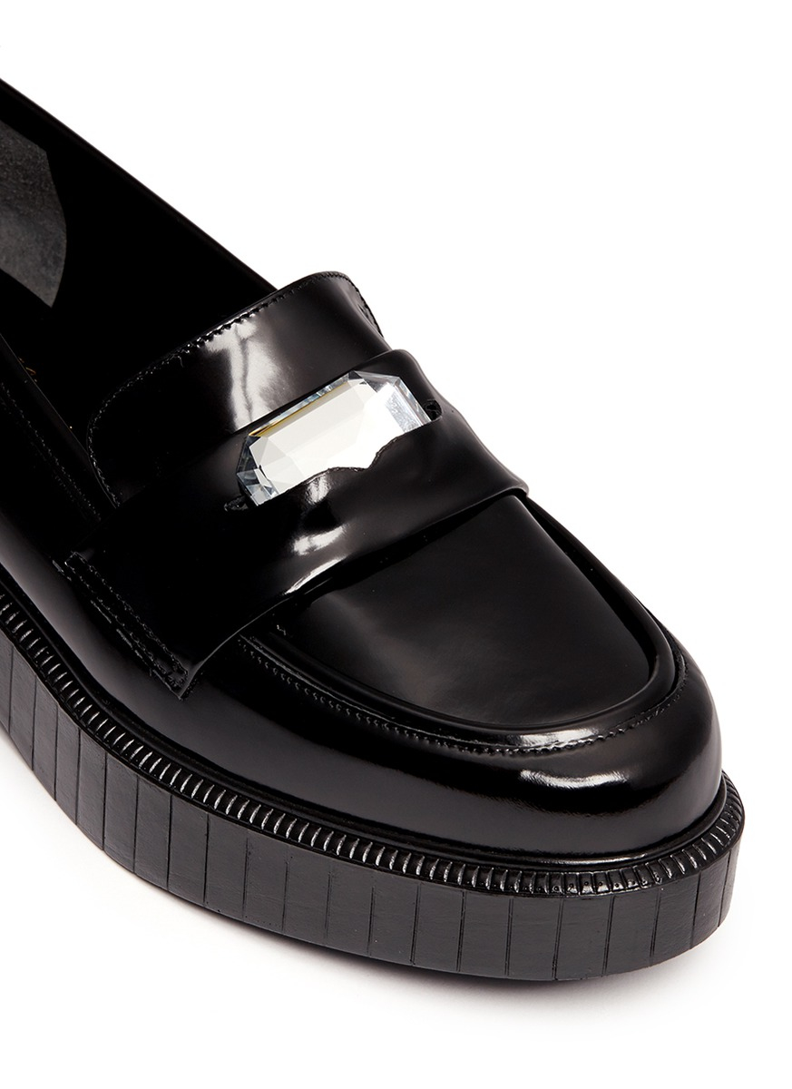 1271e98202e Lyst - Robert Clergerie Peyruk Leather Platform Loafers in Black