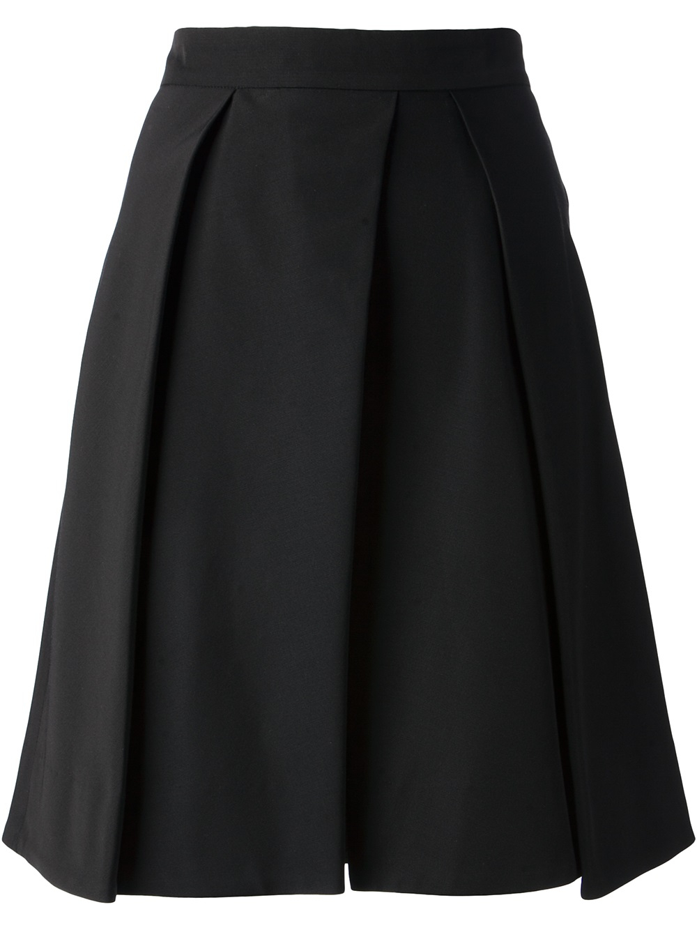 Mcq Pleated A-line Skirt in Black | Lyst