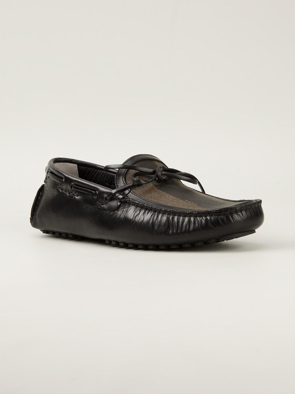 fendi driving shoe in black for lyst