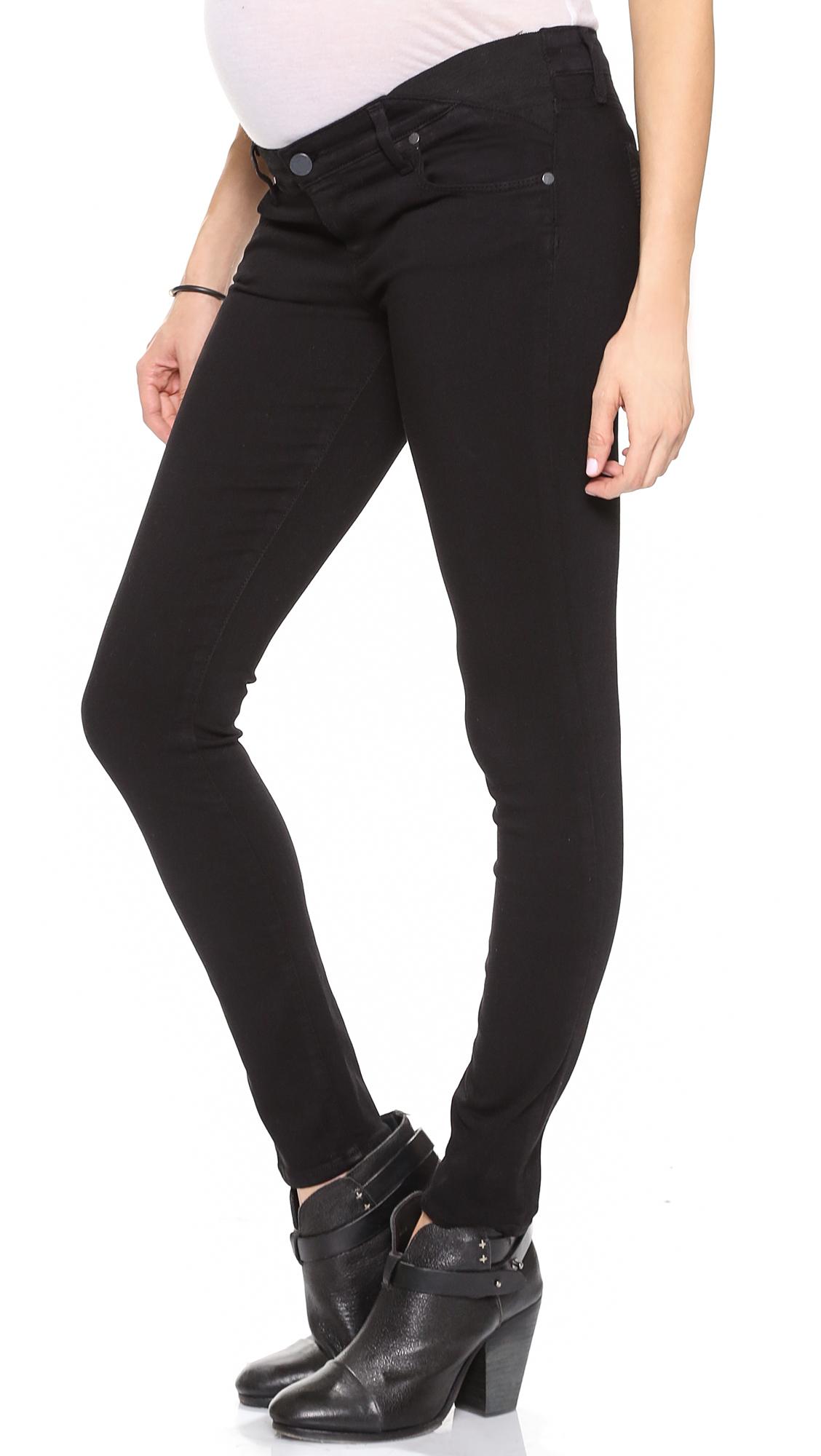 Paige Verdugo Ultra Skinny Maternity Jeans - Black Overdye in ...