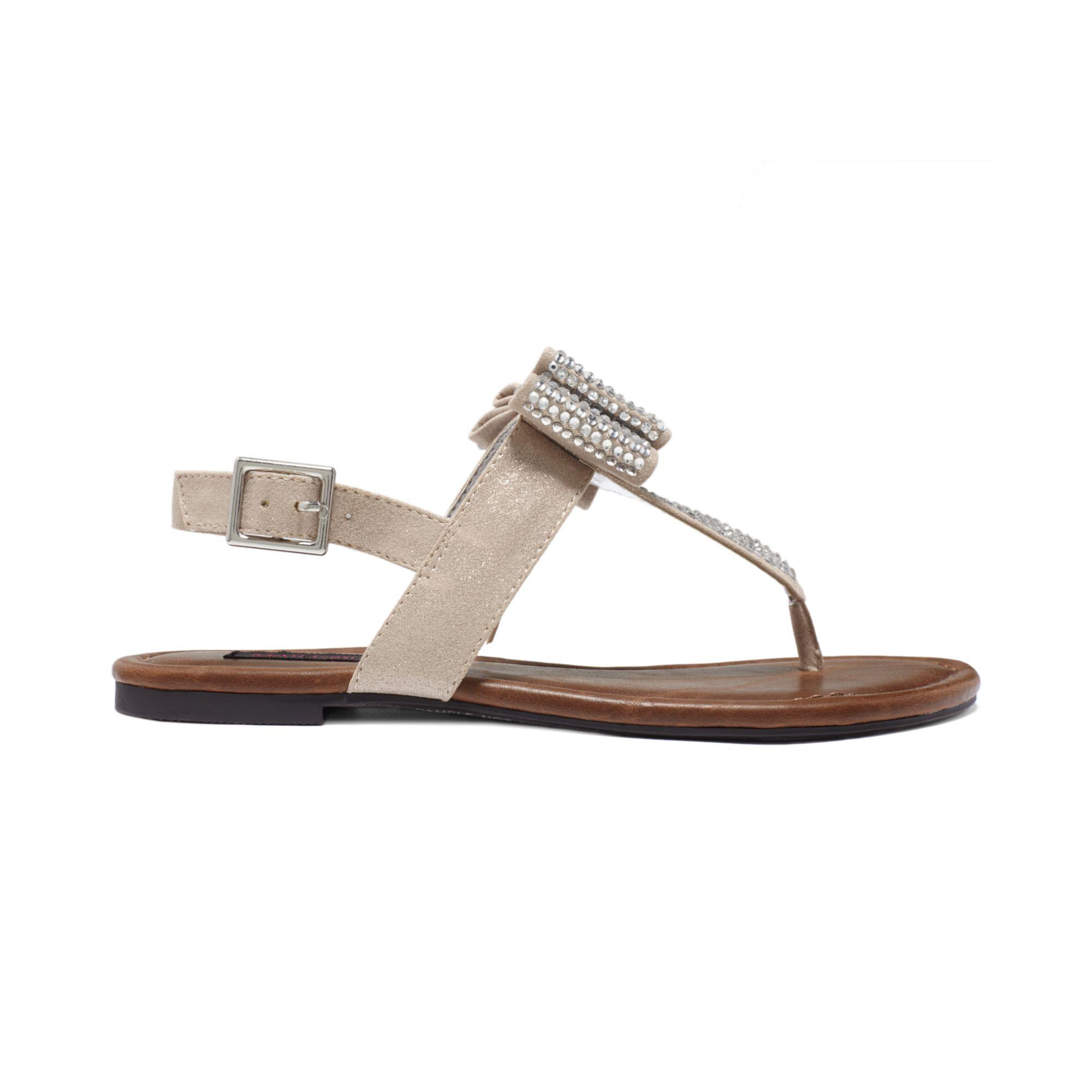 Lyst Material Girl Shayla Flat Sandals In Metallic
