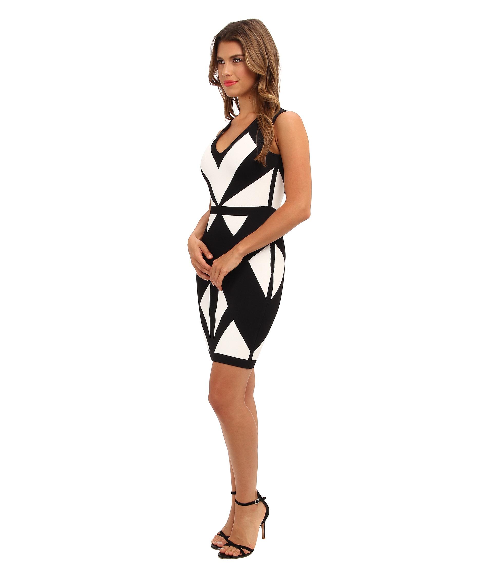 Bcbg evinna geometric dress images