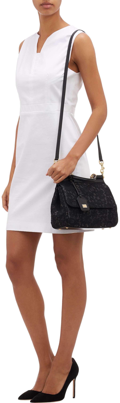 97e0d1e8e9 Dolce   Gabbana Lace Medium Miss Sicily Bag in Black - Lyst