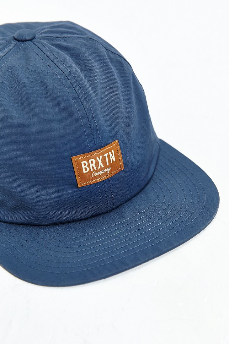 22806012c163f ... discount code for brixton hoover ii strapback hat in blue for men lyst  05bb6 4f45c