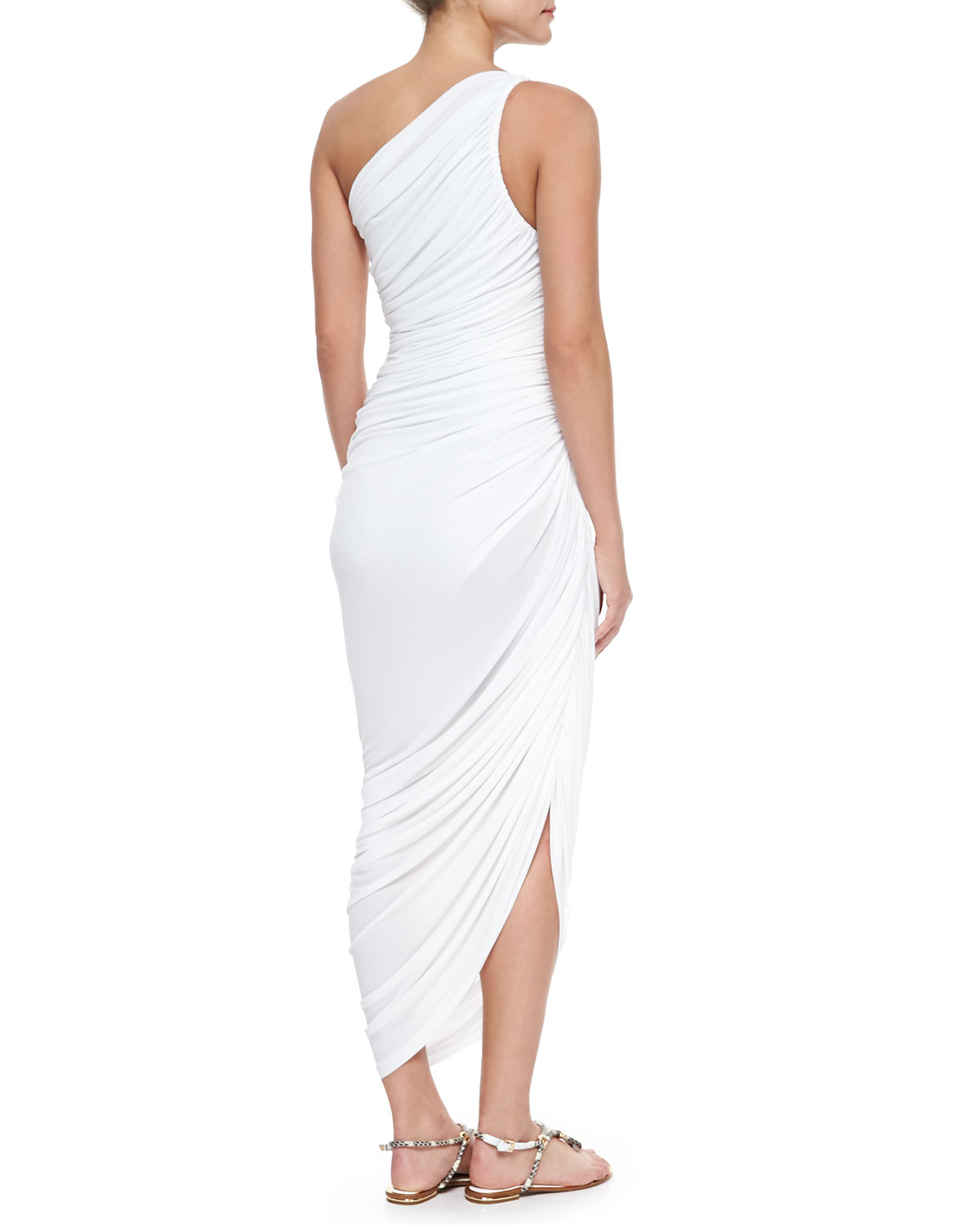 Diana one-shoulder jersey dress Norma Kamali WLsRqq