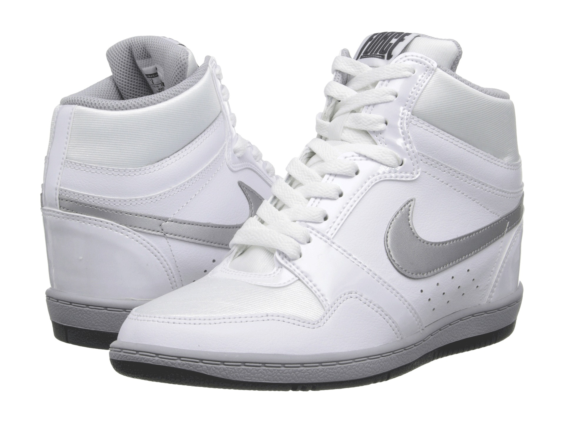 lyst nike force sky high sneaker wedge in white. Black Bedroom Furniture Sets. Home Design Ideas