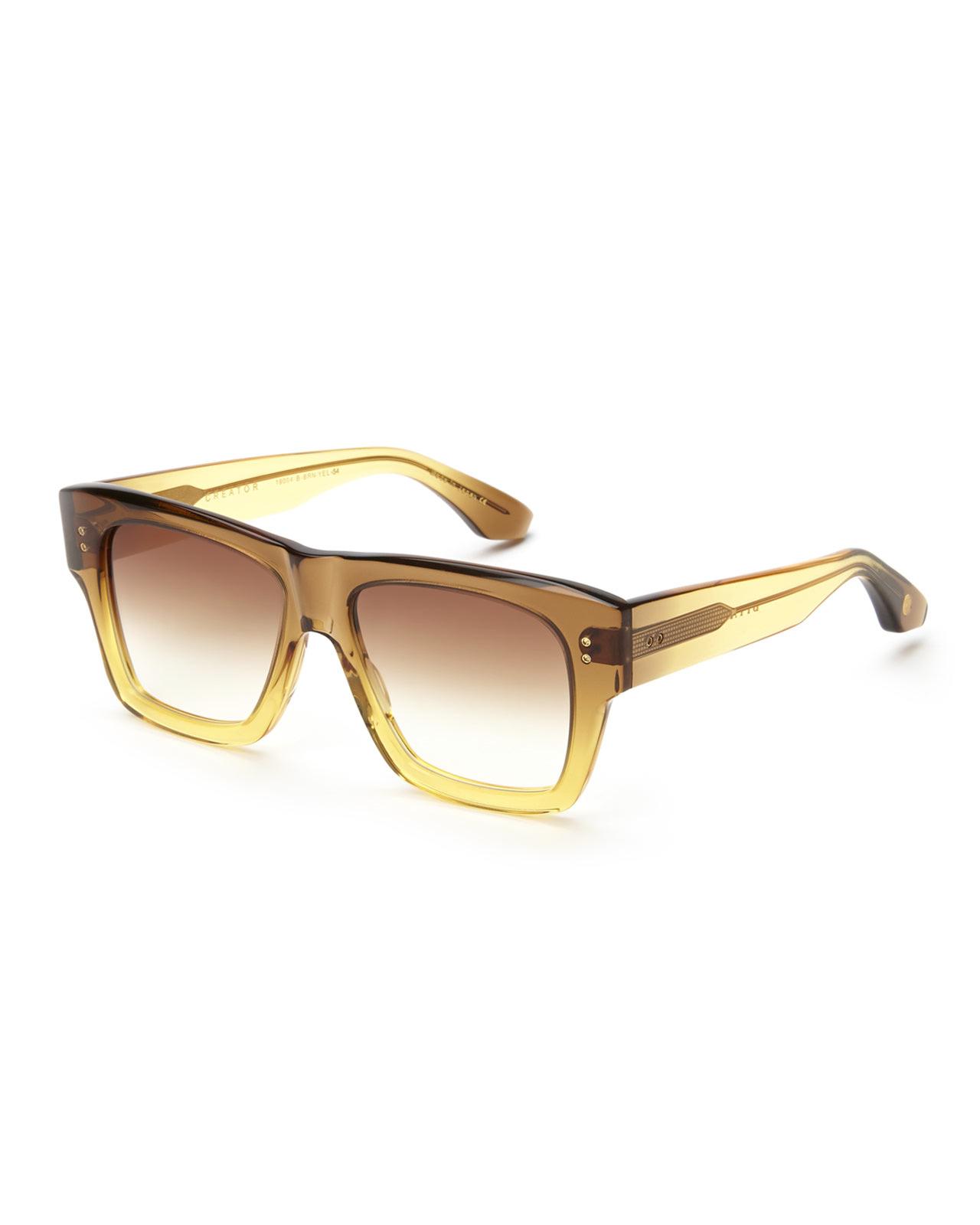 89d588e9b07 Lyst - DITA 19004 Creator Square Wayfarer Sunglasses in Yellow