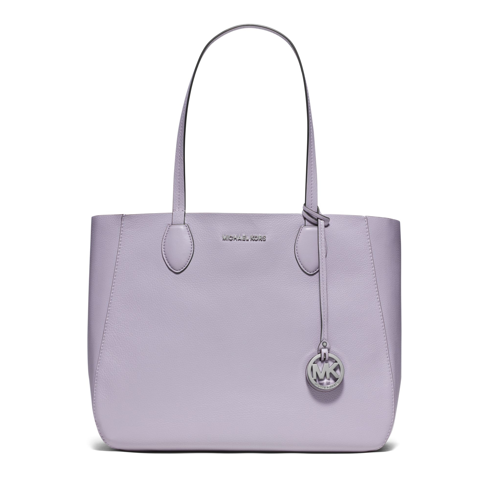 9767eb29dbca ... Lyst - Michael Kors Mae Soft Leather Carryall Tote in Purple ...